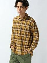 【WEGO】(M)ドロップショルダーチェックシャツ