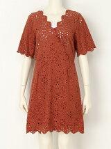 スエード刺繍ジャンパースカート
