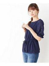 袖刺繍陽柳プルオーバー