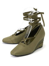 LACE UP WEDGE BALLAET SHOES