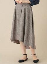 OLIVE des OLIVE OLIVE グレンチェックテールスカート