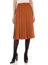サテン広幅スカート