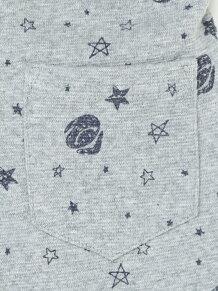 eくん+星柄ミラノリブパンツ
