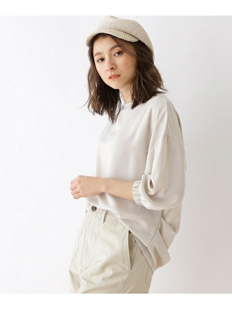 【SALE/60%OFF】OZOC ◆【洗える】ボートネックシャツ オゾック シャツ/ブラウス【RBA_S】【RBA_E】