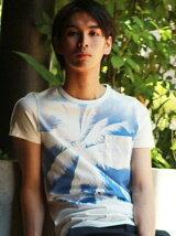 (M)プリントスリムフィットTシャツ