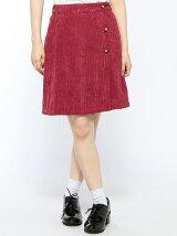 コーデュロイラップスカート