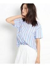 ストライプブロードシャツ