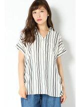 E/スラブエリZIPシャツ