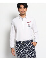 【日本製】ゴルフカートモチーフ長袖ポロシャツ