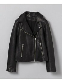 JEANASiS W Leather Jacket ジーナシス コート/ジャケット ライダースジャケット/レザージャケット ブラック【送料無料】