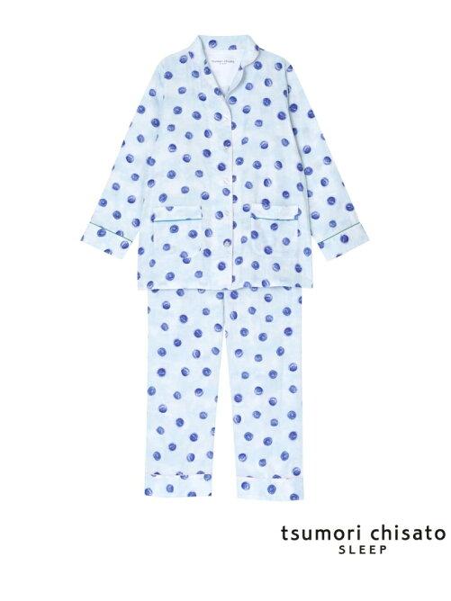 tsumori chisato SLEE(ツモリチサトスリープ)「パジャマ ロング袖・ロングパンツ 水彩ドット柄」