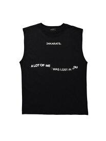 24karats 24karats/(M)Typography Tee NS バーチカルガレージ カットソー タンクトップ ブラック ホワイト【送料無料】