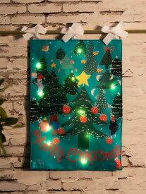 【SALE/50%OFF】Afternoon Tea LEDライト付きリバーシブルクリスマスタペストリーS/ベリー・アクトゥグル アフタヌーンティー・リビング 生活雑貨 生活雑貨その他 レッド