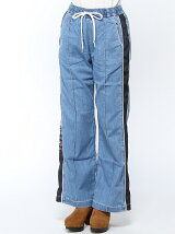 DENIM TRACK PANTS