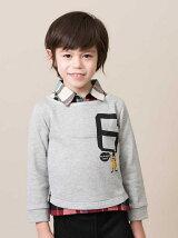 kidsレイヤードシャツトレーナー