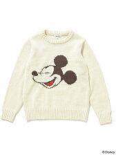 【予約】Disney|ビーミング by ビームス / ミッキーマウス インターシャ クルーニット 17AW BEAMS