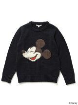 Disney|ビーミング by ビームス / ミッキーマウス インターシャ クルーニット 17AW BEAMS