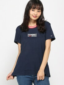 【SALE/40%OFF】TOMMY HILFIGER(トミーヒルフィガー) ロゴ Tシャツ ロゴ Tee カットソー 半袖 Tシャツ レディース トミーヒルフィガー カットソー【RBA_S】【RBA_E】