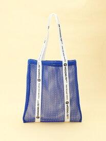 【SALE/30%OFF】WEEKEND(ER) WEEKEND(ER)/(U)3D mesh totebag ゴースローキャラバン バッグ トートバッグ ブルー ホワイト