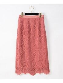 GRACE CONTINENTAL ジオメコードスカート グレースコンチネンタル スカート スカートその他 ピンク ブラック【送料無料】
