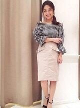 フリルポケット付きタイトスカート