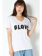 (L)ビジューロゴTシャツ