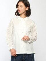 すずらん刺繍チャイナ釦シャツ