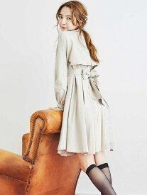 【SALE/36%OFF】titty&Co. バックチュールトレンチコート ティティー アンド コー コート/ジャケット トレンチコート ベージュ【送料無料】