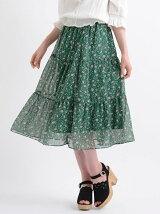 小花柄ギャザースカート
