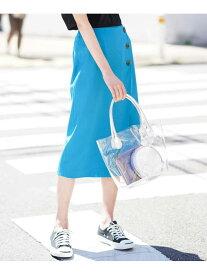 【SALE/70%OFF】a.v.v ハイストレッチナロースカート[WEB限定サイズ] アー・ヴェ・ヴェ スカート スカートその他 ブルー ベージュ