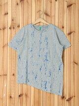 (K)裾アシンメトリーラウンドネック半袖Tシャツ・カットソーULT