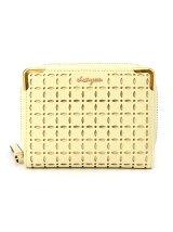 (W)VIVAYOU/フラワーモチーフパンチング加工2つ折り財布