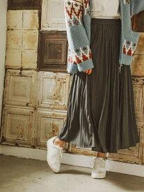 【SALE/21%OFF】BAYFLOW (W)プリーツロングSK ベイフロー スカート プリーツスカート/ギャザースカート グレー ブラウン ブルー オレンジ【送料無料】