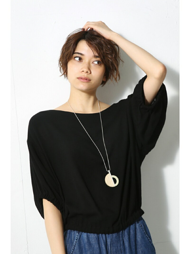 【SALE/60%OFF】AZUL by moussy 楊柳ギャザーブラウス アズールバイマウジー カットソー【RBA_S】【RBA_E】