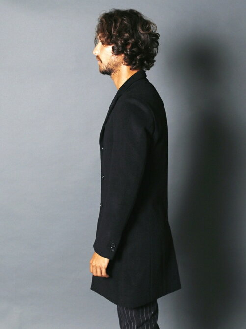 WOOL/CASHMERE STAND UP S3B CHESTER COAT
