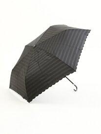 Afternoon Tea ボーダー柄折りたたみ傘 雨傘 アフタヌーンティー・リビング ファッショングッズ 日傘/折りたたみ傘 ブラック グリーン ネイビー【送料無料】