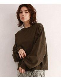 OZOC [洗える]ボリューム袖ロングTシャツ オゾック カットソー【送料無料】
