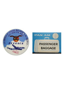 LEADWORKS/ヴィンテージステッカー 2種セット AIRLINE AVIANCE & PAN AM
