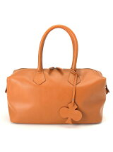 Clover Leather Boston Bag