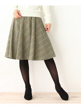innowave レトログレンチェックミディスカート