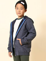 【coen キッズ / ジュニア】裏ボアジップパーカー(100〜150cm)