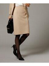[L]ピンストライプストレートタイトスカート