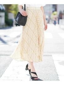 【SALE/80%OFF】a.v.v 【InRed6月号掲載】【洗える】チェックアコーディオンプリーツスカート[WEB限定サイズ] アー・ヴェ・ヴェ スカート スカートその他 ベージュ ブラック