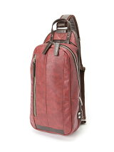 (M)オティアス/合成皮革タテ型ボディバッグ