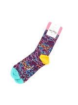 (W)【Happy Sock】ラインカモ