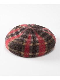 GRACE CONTINENTAL チェックバスクベレー グレースコンチネンタル 帽子/ヘア小物 ベレー帽 レッド ブルー【送料無料】