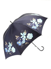 mila schon mila schon/(W)耐風ジャンプ傘花柄 ムーンバット ファッショングッズ 長傘 ネイビー ピンク ベージュ グレー【送料無料】