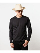 ONE POINT CREW NECK  LONG SLEEVE T-SHIRT