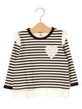 kids裾シフォンチュニックTシャツ