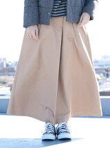 ラップ綿ツイルスカート